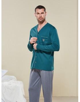 Düğmeli Pijama Takım 1