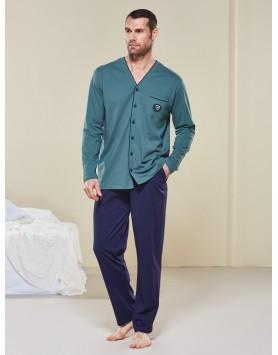 Düğmeli Pijama Takım 2