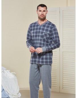 V Yaka Pijama Takımı 4