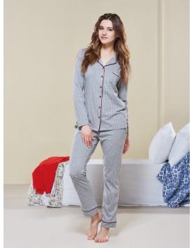 Düğmeli Pijama Takım II