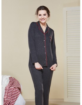 Düğmeli Pijama Takımı IV